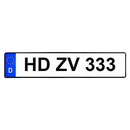 1 Standart 520x110 zertifiziertes EU Kennzeichen nach DIN,LKW/PKW,Saison,Elektro,Historisch,Parkplatz,Wunschname,Für Fahradträger,Wird in Allen Deutschen Zulassungsstellen akzeptiert